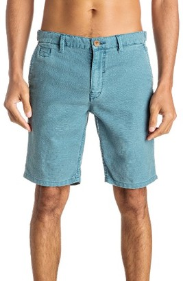 Men's Quiksilver Greenwood Cutty Linen Blend Shorts $52 thestylecure.com