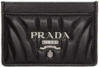 Prada Black Quilted Logo Card Holder