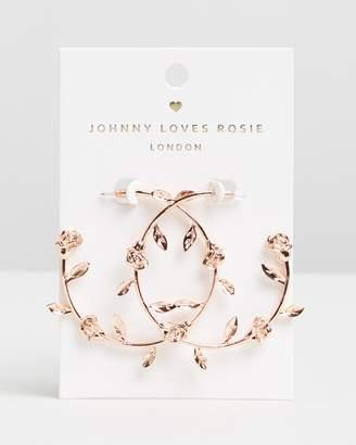 Johnny Loves Rosie Rose Hoops