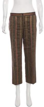 Celine Linen Mid-Rise Pants