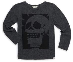 Appaman Little Boy's& Boy's Fine Line Skull Graphic Long-Sleeve Tee