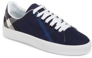 Women's Burberry Check Canvas Lace-Up Sneaker