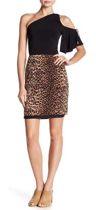 Vince Camuto Leopard Printed Skirt