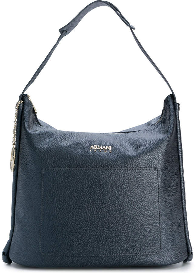 Armani Jeans grained tote bag