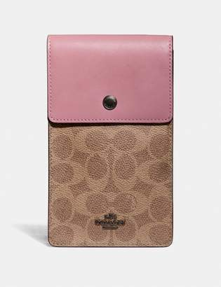 Coach Snap Phone Crossbody In Signature Canvas