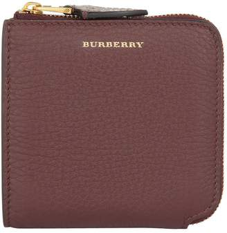 Burberry Grained Leather Square Wallet
