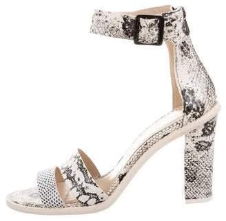 Loeffler Randall Round-Toe Embossed Sandals