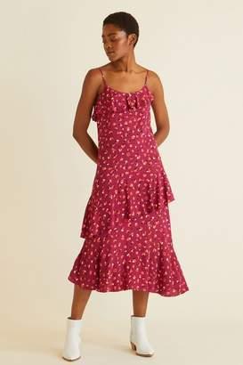 Oliver Bonas Womens Gesture Animal Slip Dress - Red