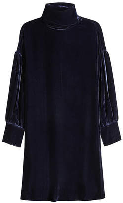 MiH Jeans Velvet Dress with Silk