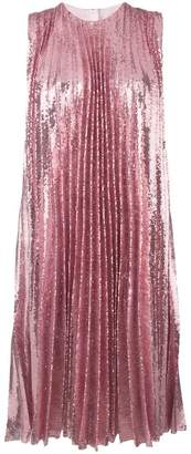 MSGM sequin pleated insert dress