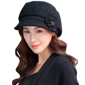 da3bbfc9f29 at Amazon Canada · Cloche Leben LerBen Women Knitted Warm Fedora Brim  Bowler Hat Slouchy Cap