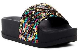 Jeffrey Campbell Lucky Me Faux Fur Platform Side Sandal