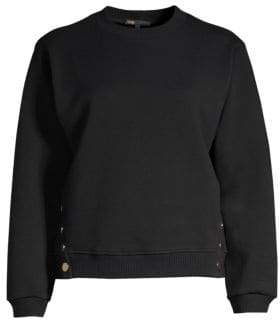 Maje Embroidered Dream Tomorrow Crewneck Sweater