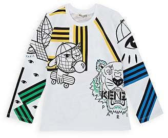 Kenzo Kids' Logo-Print Cotton T-Shirt