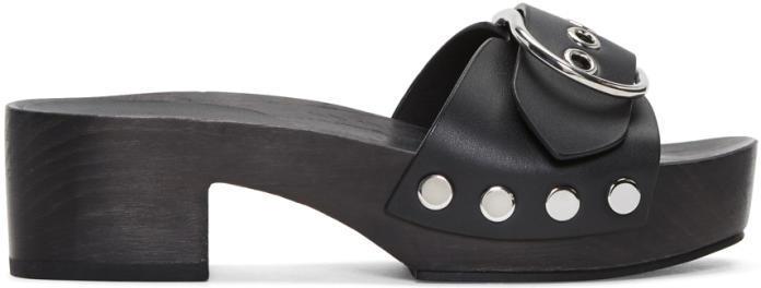 Alexander Wang Black Maya Clog Sandals