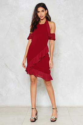 Nasty Gal Don't Ruffle In Silence Halter Dress