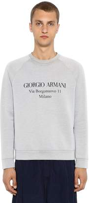 Giorgio Armani Address Print Cotton Sweatshirt