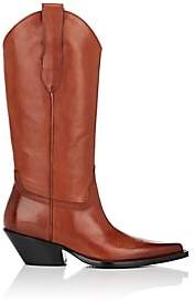 Maison Margiela Women's Leather Western Knee Boots - Brown