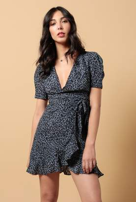 Azalea Mini V Neck Ruffle Wrap Dress