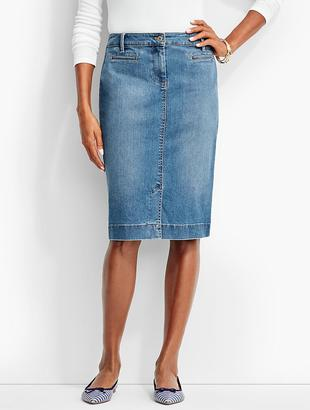 The Denim Pencil Skirt-Clear Sailing Wash $79.50 thestylecure.com