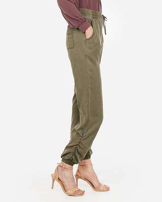 Express Ruched Ankle Drawstring Jogger Pant