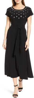 Women's Chaus Embellished Tie Waist Dress $109 thestylecure.com