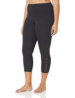 Core 10 Amazon Brand Women's Plus Size Icon Series Lace Up Yoga Full-Length Legging