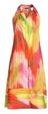 Josie Natori Radiant Texture Cotton Poplin Shirtdress