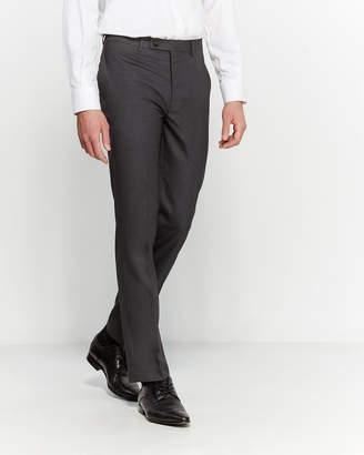 Calvin Klein Charcoal Sharkskin Dress Pants