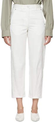Lemaire White Cotton Denim Twisted Jeans