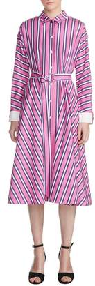 Maje Renali Stripe Midi Shirtdress