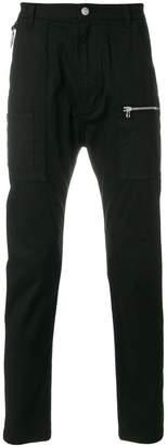 Helmut Lang slim-fit zipped pocket trousers