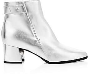 Nicholas Kirkwood Women's Miri Metallic Leather Ankle Boots