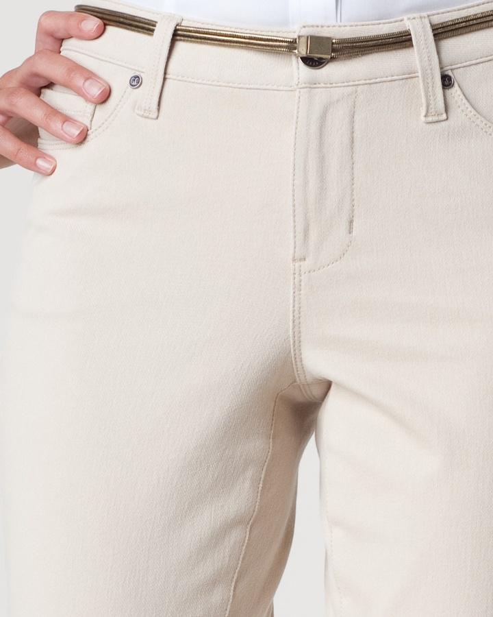 Coldwater Creek Knit denim bootcut jeans