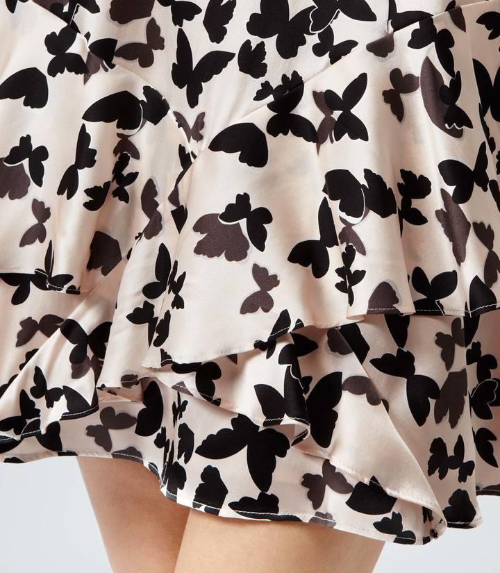 Reiss Roe BUTTERFLY PRINT SILK DRESS