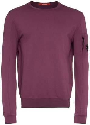 C.P. Company logo embellished cotton sweater