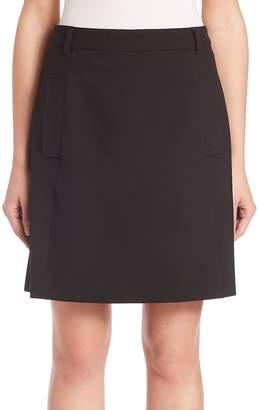 SET Women's Solid Mini Skirt