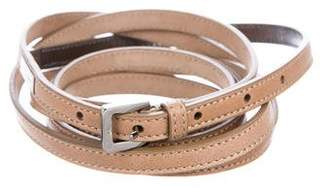 Jimmy Choo Metallic Leather Skinny Belt