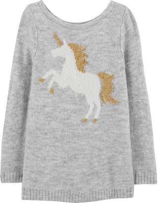 Carter's Baby Girl Lurex Unicorn Sweater