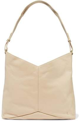 Halston Pebbled-Leather Shoulder Bag