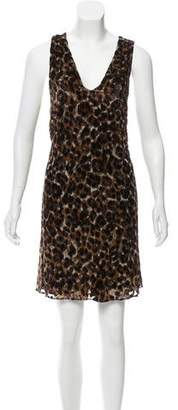 Alice + Olivia Leopard Print Mini Dress