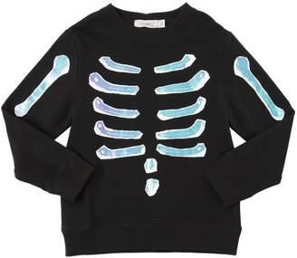 Stella McCartney Reflective Skeleton Cotton Sweatshirt