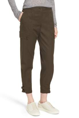 Nordstrom Signature Tab Over Cotton Utility Pants