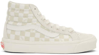 Vans Beige and Off-White OG Sk8-Hi LX Sneakers
