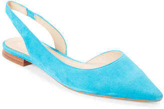 Marc Fisher Teal Sessily Pointed Toe Slingback Flats