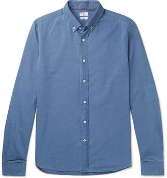 Brunello Cucinelli Button-Down Collar Cotton-Chambray Shirt