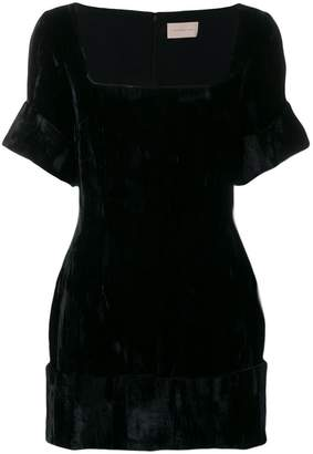 Christopher Kane square neck mini dress