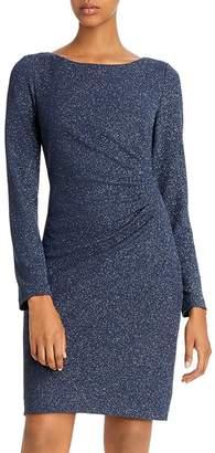 Eliza J Ruched Glitter Dress
