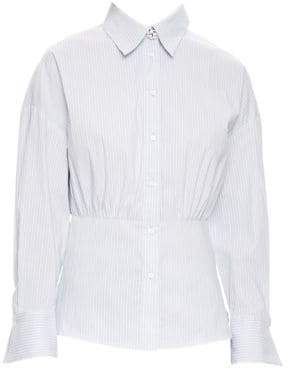 Sandro H18 Solo Stripe Peplum Shirt