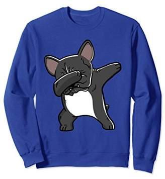 French Bull Funny Dabbing Dog Birthday Gift Sweatshirt